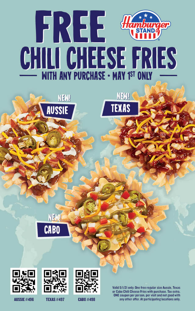 Free Chili Cheese Fries Coupon